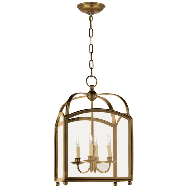 Visual Comfort CHC 3421AB Chapman & Myers Arch Top Small Lantern in Antique-Burnished Brass