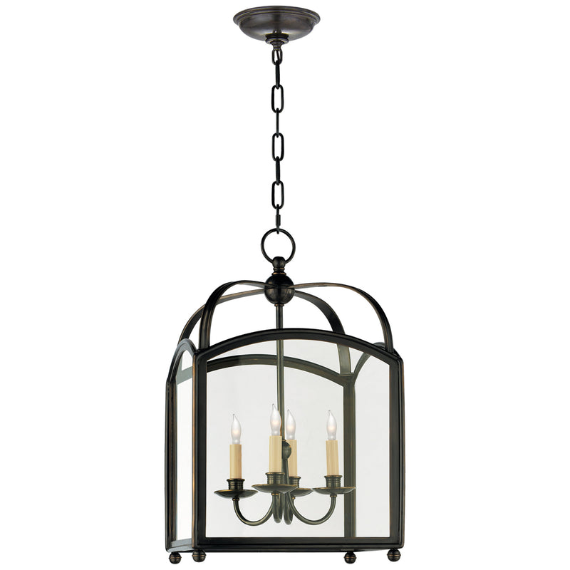 Visual Comfort CHC 3421BZ Chapman & Myers Arch Top Small Lantern in Bronze