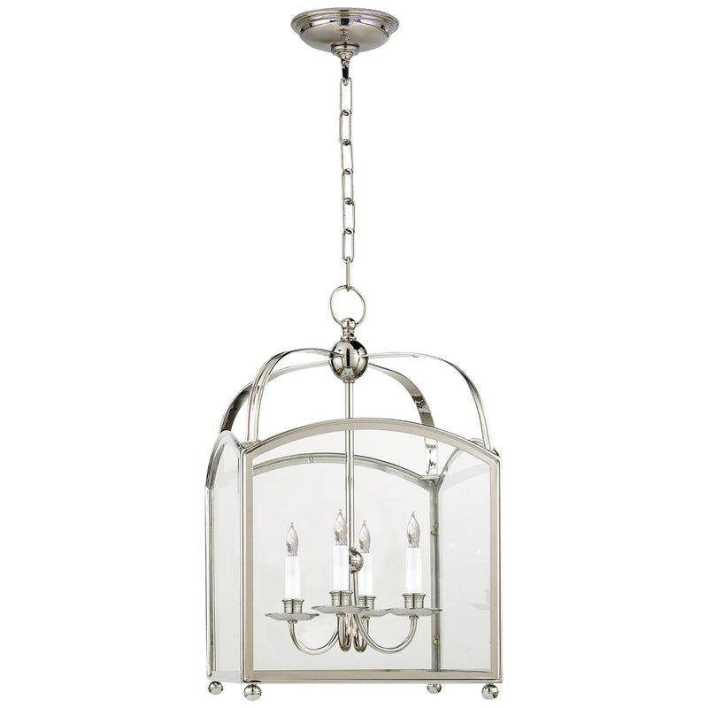Visual Comfort CHC 3421PN Chapman & Myers Arch Top Small Lantern in Polished Nickel