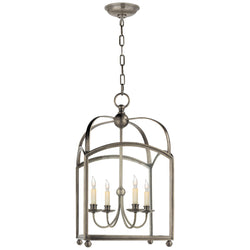 Visual Comfort CHC 3422AN Chapman & Myers Arch Top Medium Lantern in Antique Nickel