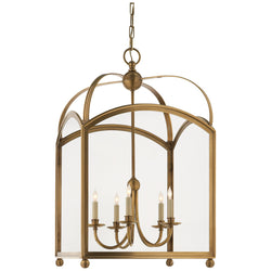 Visual Comfort CHC 3425AB Chapman & Myers Arch Top Large Lantern in Antique-Burnished Brass