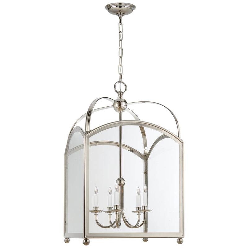 Visual Comfort CHC 3425PN Chapman & Myers Arch Top Large Lantern in Polished Nickel