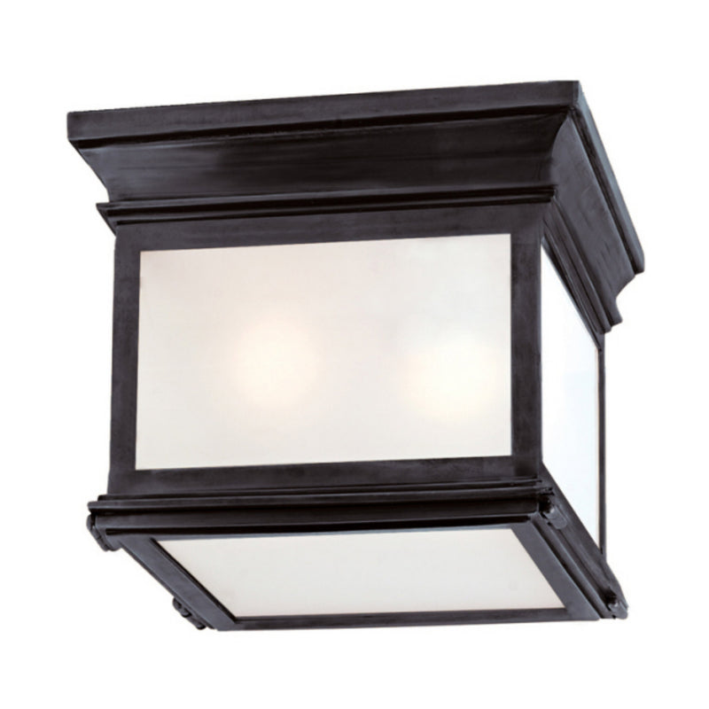 Visual Comfort CHC 4128BZ-FG Chapman & Myers Club Small Square Flush Mount in Bronze