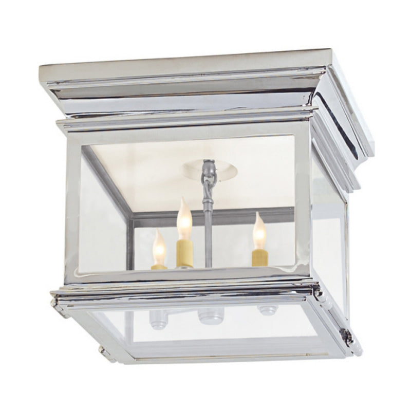 Visual Comfort CHC 4128PN-CG Chapman & Myers Club Small Square Flush Mount in Polished Nickel