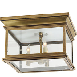 Visual Comfort CHC 4129AB-CG Chapman & Myers Club Large Square Flush Mount in Antique-Burnished Brass