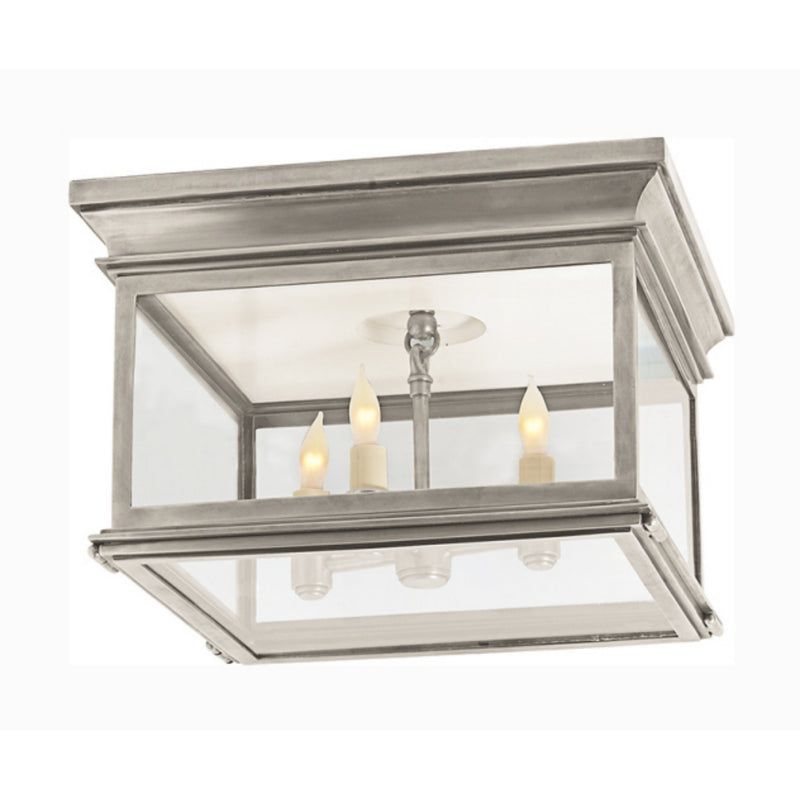 Visual Comfort CHC 4129AN-CG Chapman & Myers Club Large Square Flush Mount in Antique Nickel