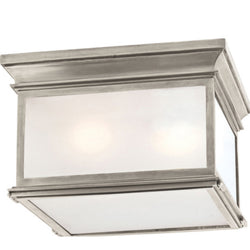 Visual Comfort CHC 4129AN-FG Chapman & Myers Club Large Square Flush Mount in Antique Nickel
