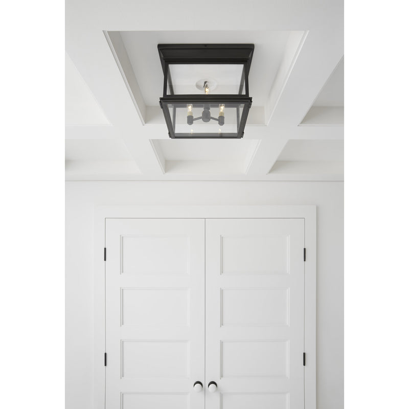 Visual Comfort CHC 4129BZ-CG Chapman & Myers Club Large Square Flush Mount in Bronze