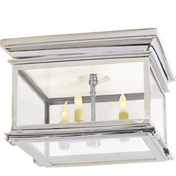 Visual Comfort CHC 4129PN-CG Chapman & Myers Club Large Square Flush Mount in Polished Nickel