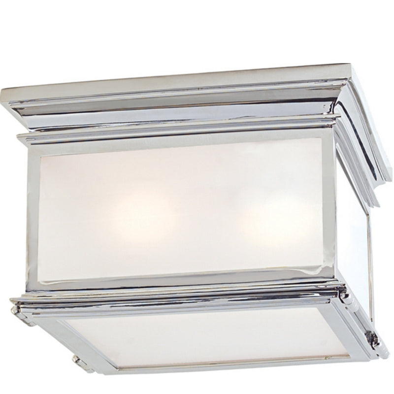 Visual Comfort CHC 4129PN-FG Chapman & Myers Club Large Square Flush Mount in Polished Nickel