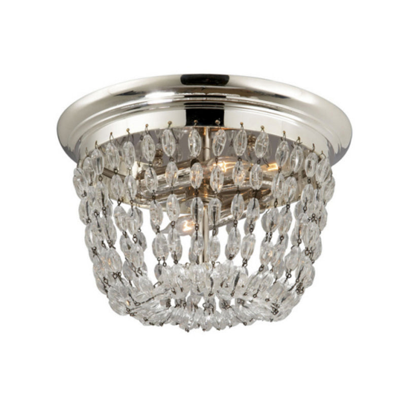 Visual Comfort CHC 4206PS-SG Chapman & Myers Paris Flea Market Small Flush Mount in Polished Silver