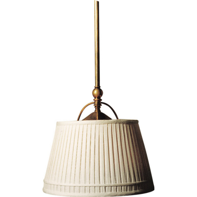 Visual Comfort CHC 5101AB-L Chapman & Myers Sloane Single Shop Light in Antique-Burnished Brass