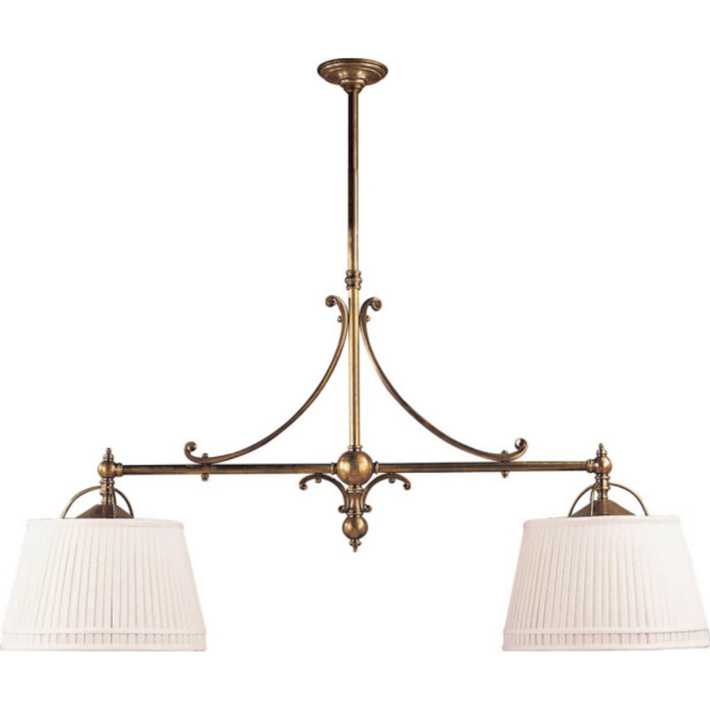 Visual Comfort CHC 5102AB-L Chapman & Myers Sloane Double Shop Pendant in Antique-Burnished Brass