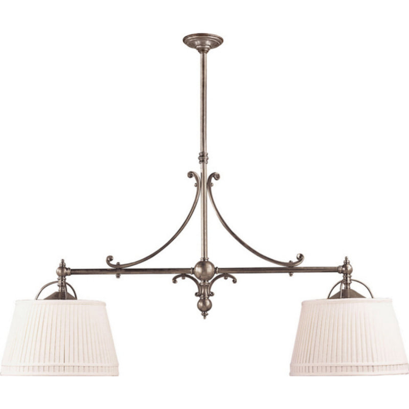 Visual Comfort CHC 5102AN-L Chapman & Myers Sloane Double Shop Pendant in Antique Nickel