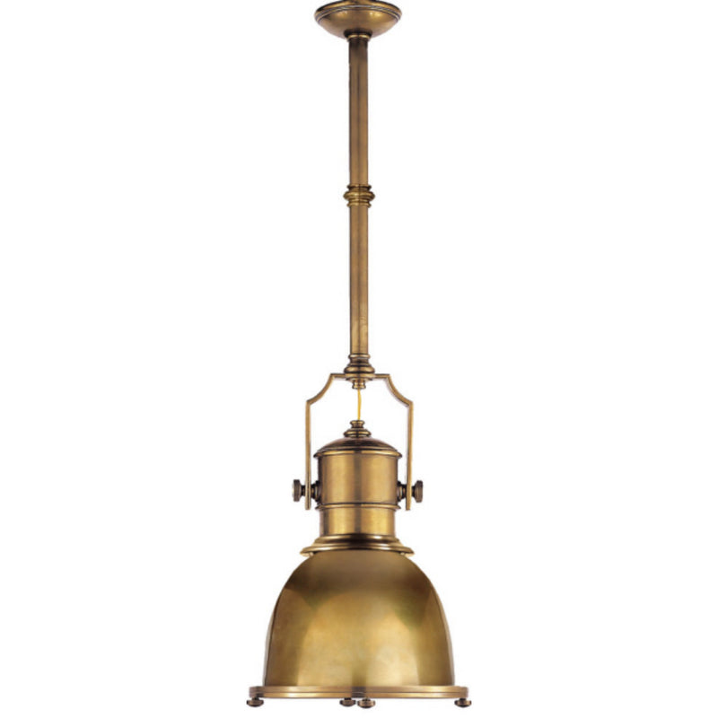 Visual Comfort CHC 5133AB-AB Chapman & Myers Country Industrial Small Pendant in Antique-Burnished Brass