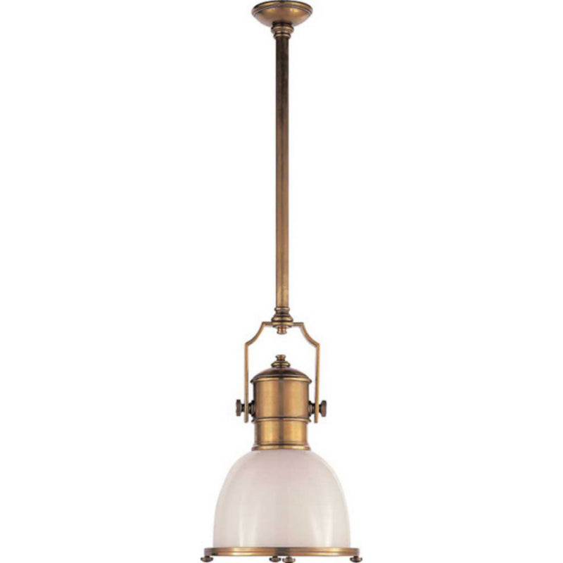 Visual Comfort CHC 5133AB-WG Chapman & Myers Country Industrial Small Pendant in Antique-Burnished Brass