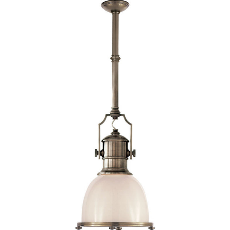 Visual Comfort CHC 5133AN-WG Chapman & Myers Country Industrial Small Pendant in Antique Nickel