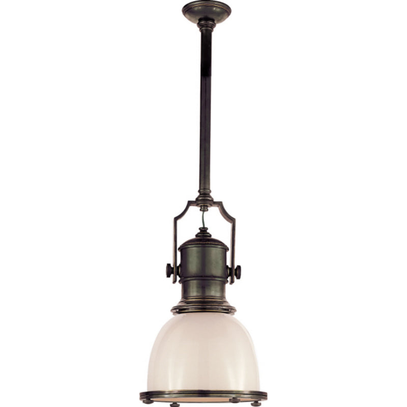 Visual Comfort CHC 5133BZ-WG Chapman & Myers Country Industrial Small Pendant in Bronze