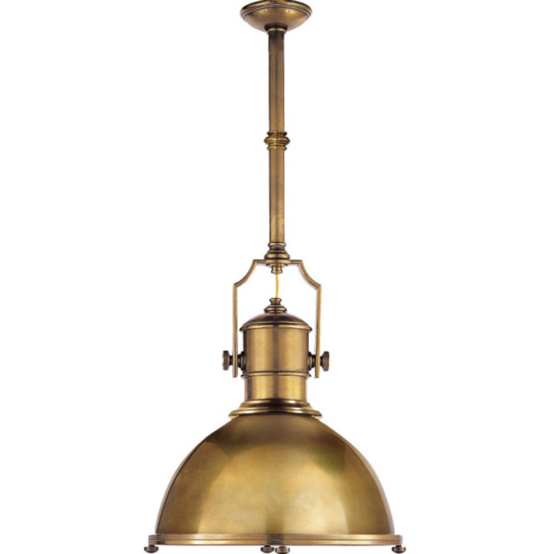 Visual Comfort CHC 5136AB-AB Chapman & Myers Country Industrial Large Pendant in Antique-Burnished Brass