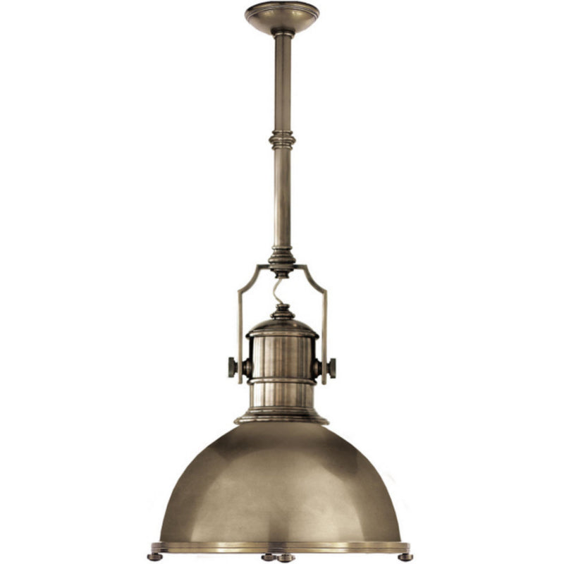 Visual Comfort CHC 5136AN-AN Chapman & Myers Country Industrial Large Pendant in Antique Nickel