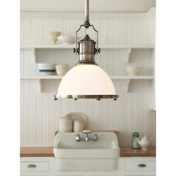 Visual Comfort CHC 5136AN-WG Chapman & Myers Country Industrial Large Pendant in Antique Nickel