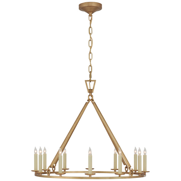 Visual Comfort CHC 5172AB Chapman & Myers Darlana Medium Single Ring Chandelier in Antique-Burnished Brass
