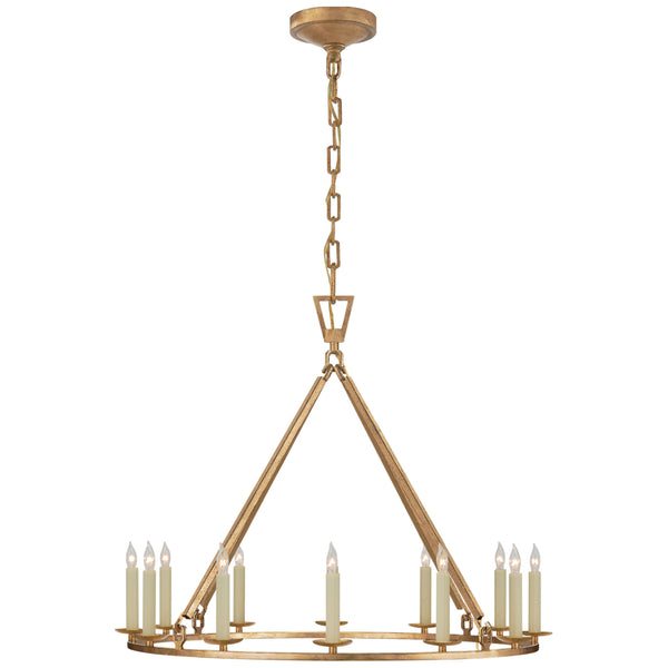 Visual Comfort CHC 5172GI Chapman & Myers Darlana Medium Single Ring Chandelier in Gilded Iron