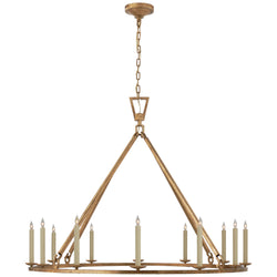 Visual Comfort CHC 5173GI Chapman & Myers Darlana Extra Large Single Ring Chandelier in Gilded Iron