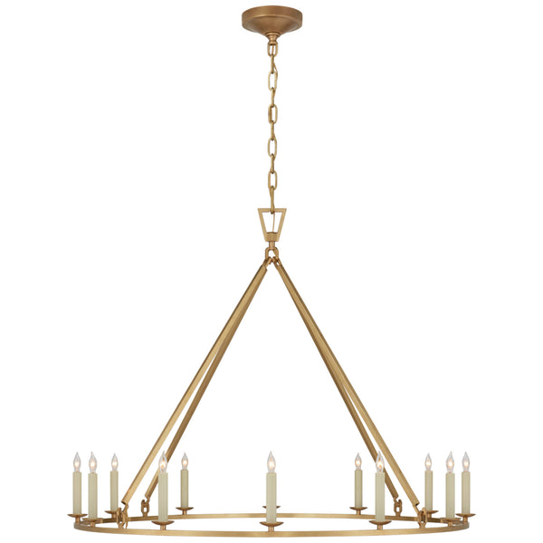 Visual Comfort CHC 5174AB Chapman & Myers Darlana Large Single Ring Chandelier in Antique-Burnished Brass