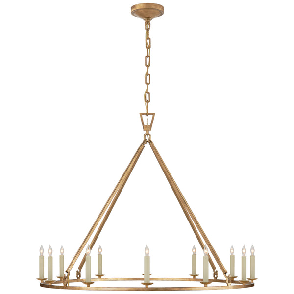 Visual Comfort CHC 5174GI Chapman & Myers Darlana Large Single Ring Chandelier in Gilded Iron