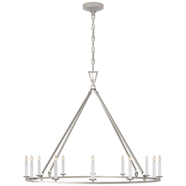 Visual Comfort CHC 5174PN Chapman & Myers Darlana Large Single Ring Chandelier in Polished Nickel