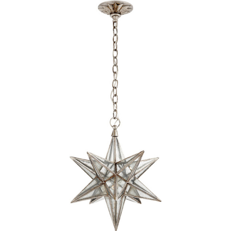 Visual Comfort CHC 5211BSL-AM Chapman & Myers Moravian Medium Star Lantern in Burnished Silver Leaf