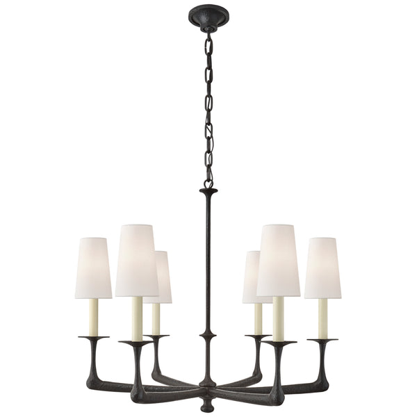Visual Comfort CHC 5315AI-L Chapman & Myers Gabriel Medium Chandelier in Aged Iron
