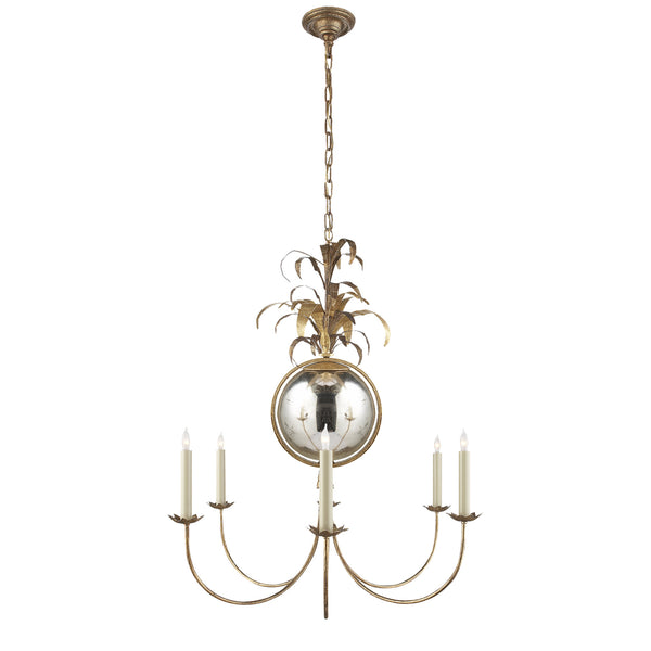 Visual Comfort CHC 5373GI Chapman & Myers Gramercy Medium Chandelier in Gilded Iron