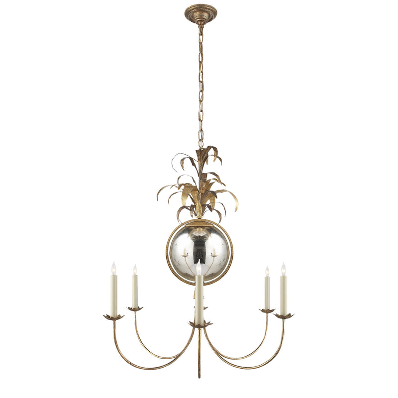 Visual Comfort CHC 5373GI Chapman & Myers Traditional Gramercy Medium Chandelier in Gilded Iron