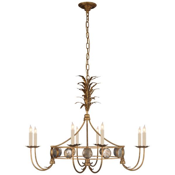 Visual Comfort CHC 5377GI Chapman & Myers Gramercy Medium Ring Chandelier in Gilded Iron