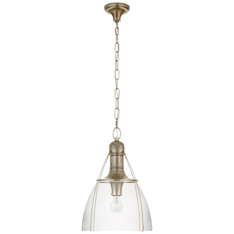 "Visual Comfort CHC 5476AN-CG Chapman & Myers Prestwick 18"" Pendant in Antique Nickel"