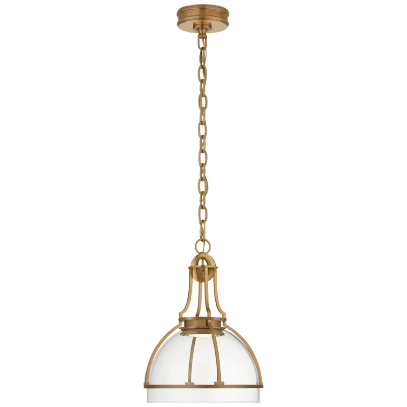 Visual Comfort CHC 5481AB-CG Chapman & Myers Gracie Medium Dome Pendant in Antique-Burnished Brass