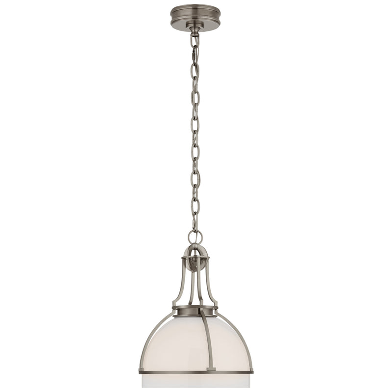 Visual Comfort CHC 5481AN-WG Chapman & Myers Gracie Medium Dome Pendant in Antique Nickel