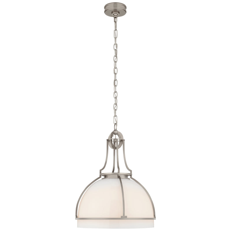 Visual Comfort CHC 5482AN-WG Chapman & Myers Gracie Large Dome Pendant in Antique Nickel