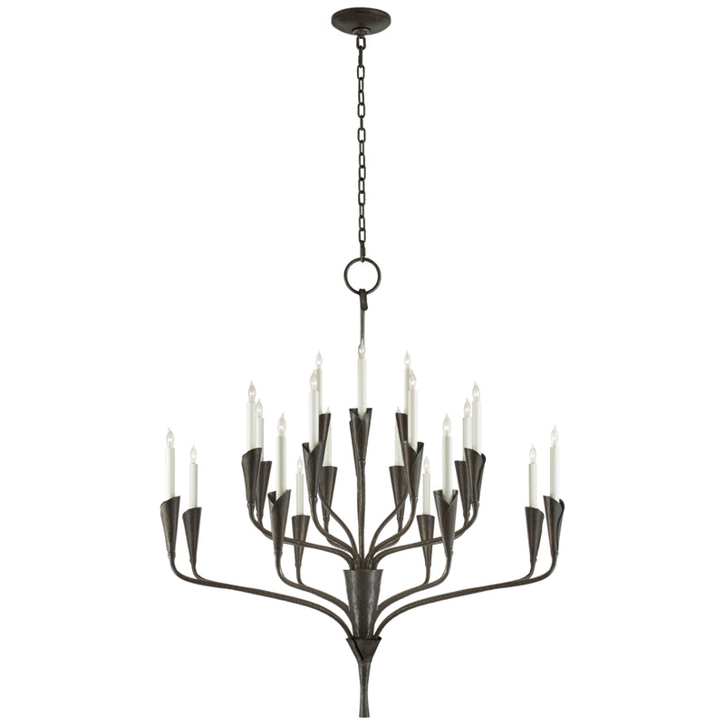 Visual Comfort CHC 5503AI Chapman & Myers Aiden Large Chandelier in Aged Iron