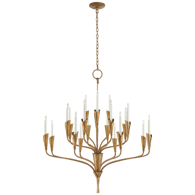 Visual Comfort CHC 5503GI Chapman & Myers Aiden Large Chandelier in Gilded Iron