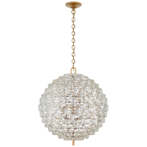 Visual Comfort CHC 5916AB/CG Chapman & Myers Karina Large Sphere Chandelier in Antique-Burnished Brass and Crystal