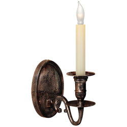 Visual Comfort CHD 1138SN Chapman & Myers Grosvenor House Single Sconce in Sheffield Nickel