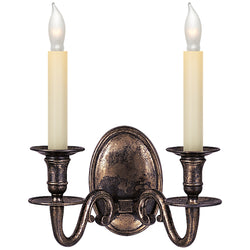 Visual Comfort CHD 1139SN Chapman & Myers Grosvenor House Double Sconce in Sheffield Nickel
