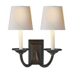 Visual Comfort CHD 1496AI-NP Chapman & Myers Flemish Double Sconce in Aged Iron
