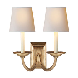 Visual Comfort CHD 1496GI-NP Chapman & Myers Flemish Double Sconce in Gilded Iron