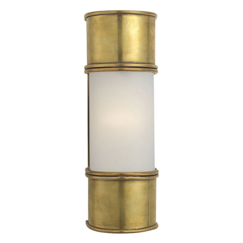 "Visual Comfort CHD 1551AB-FG Chapman & Myers Oxford 12"" Bath Sconce in Antique-Burnished Brass"