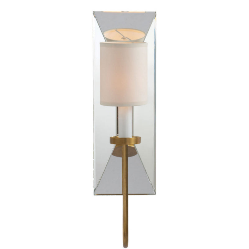 Visual Comfort CHD 1601AB-NP Chapman & Myers Cotswold Narrow Mirrored Sconce in Antique-Burnished Brass