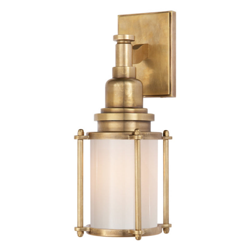 Visual Comfort CHD 2050AB-WG Chapman & Myers Stanway Sconce in Antique-Burnished Brass